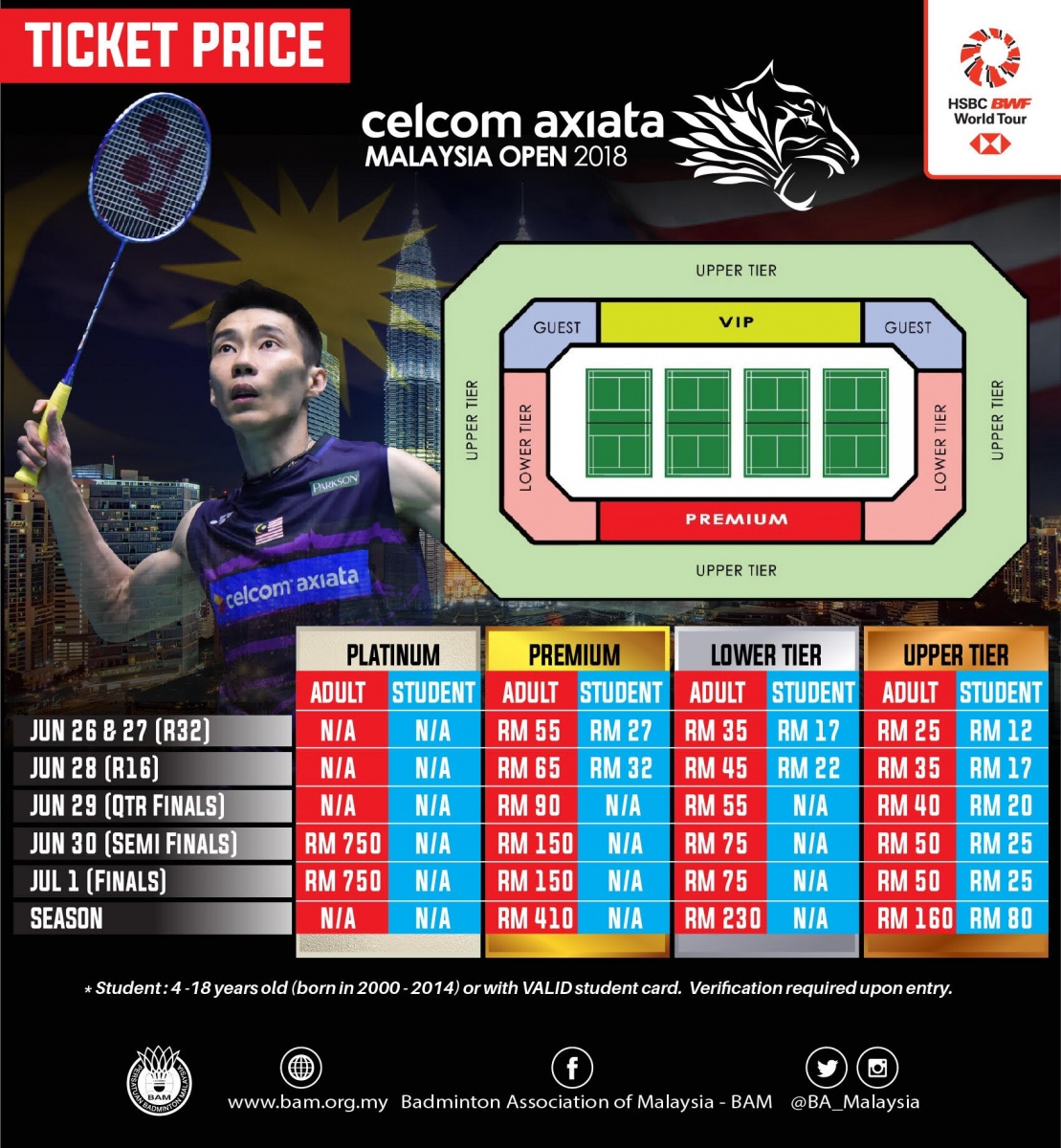 2018 CELCOM AXIATA MALAYSIA OPEN TICKET SALES LAUNCHED | BAM